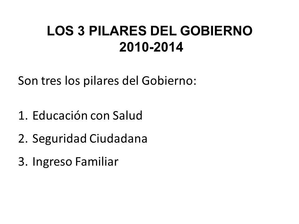 LOS 3 PILARES DEL GOBIERNO 2010-2014