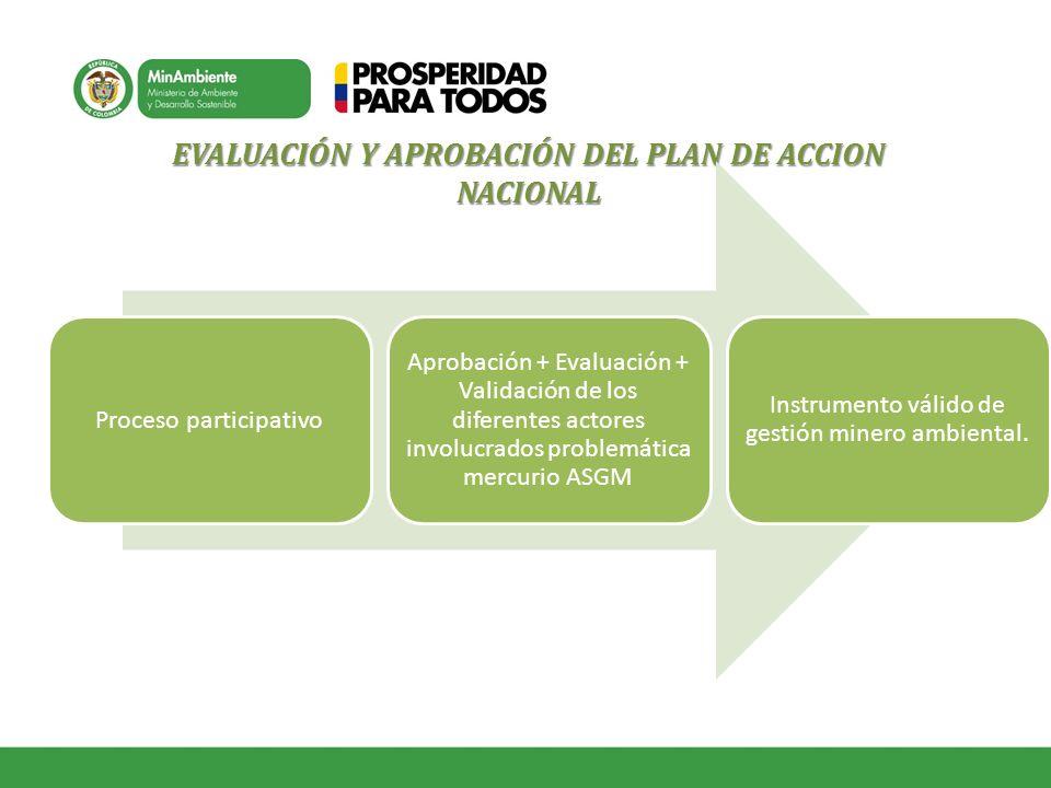 EVALUACIÓN Y APROBACIÓN DEL PLAN DE ACCION NACIONAL
