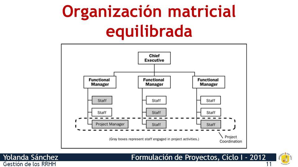 Organización matricial equilibrada