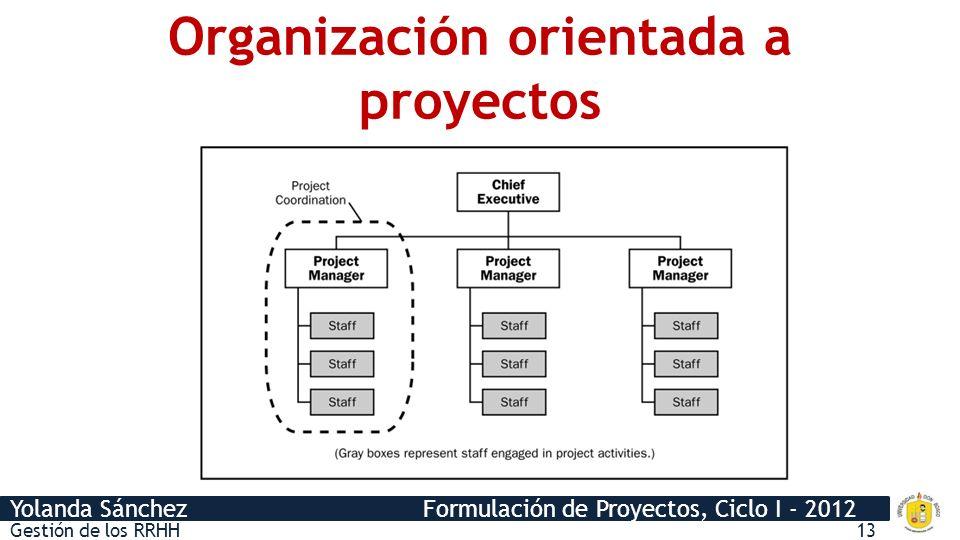 Organización orientada a proyectos