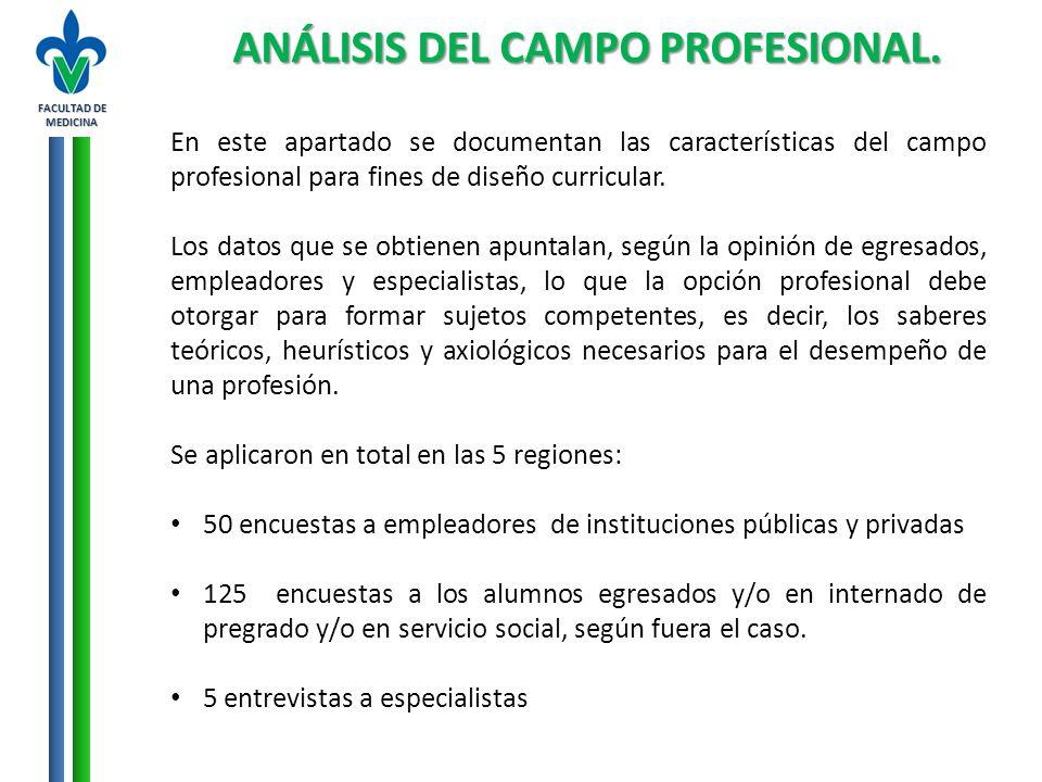 ANÁLISIS DEL CAMPO PROFESIONAL.
