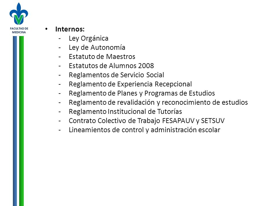 Reglamentos de Servicio Social Reglamento de Experiencia Recepcional