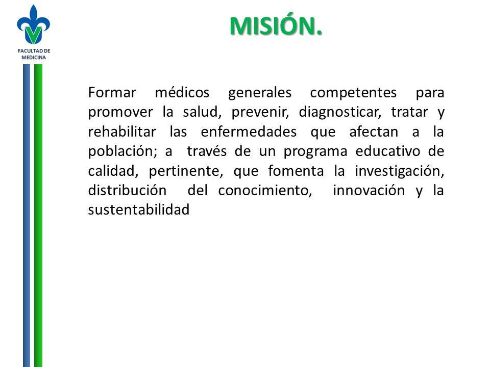 FACULTAD DE MEDICINA MISIÓN.