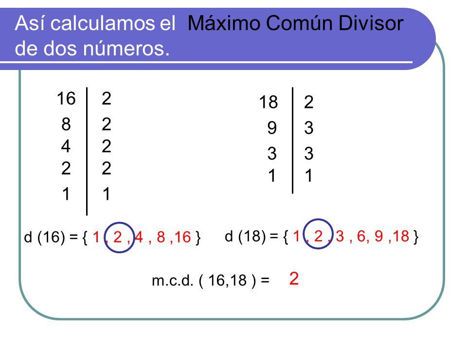 Así calculamos el Máximo Común Divisor de dos números.