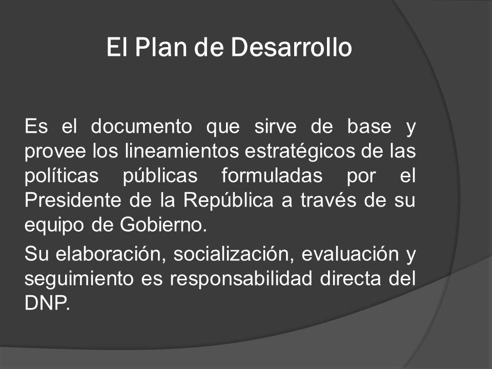 El Plan de Desarrollo