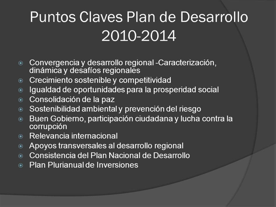 Puntos Claves Plan de Desarrollo 2010-2014