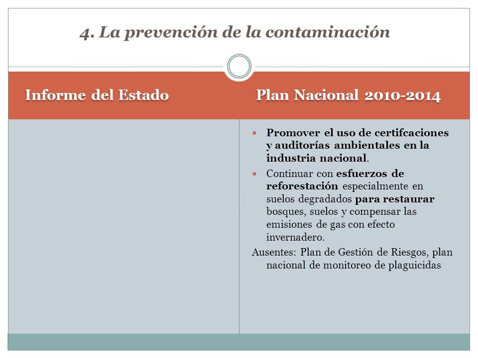4. La prevención de la contaminación