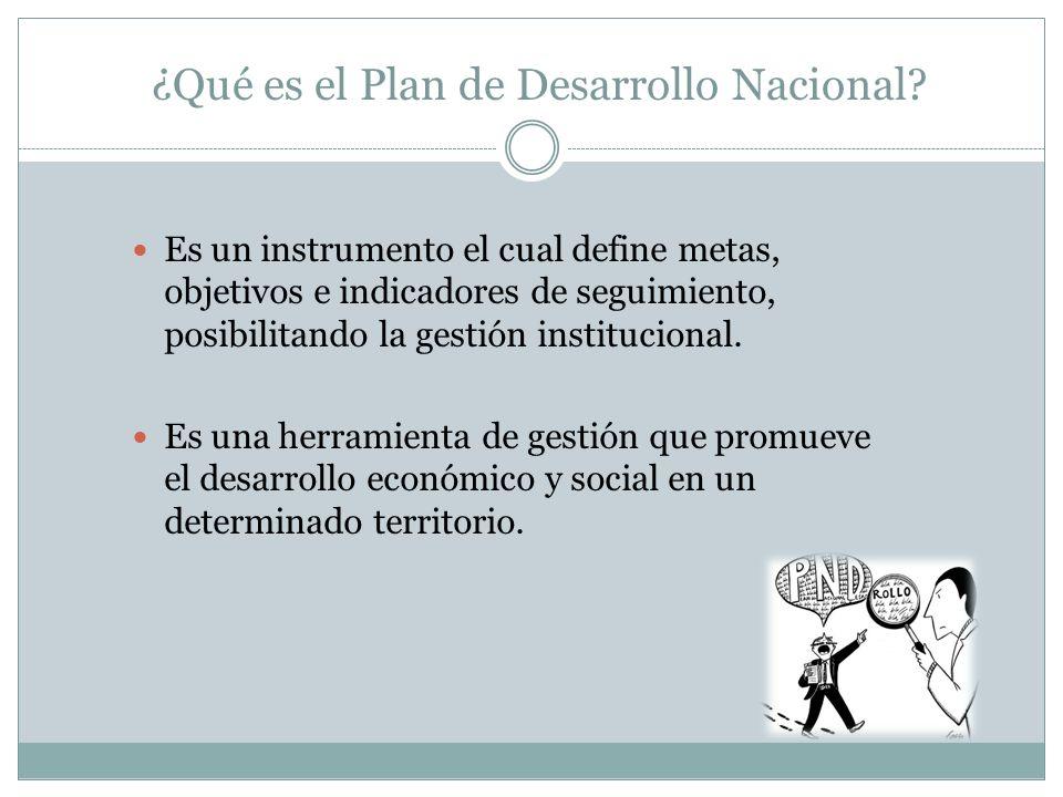 ¿Qué es el Plan de Desarrollo Nacional