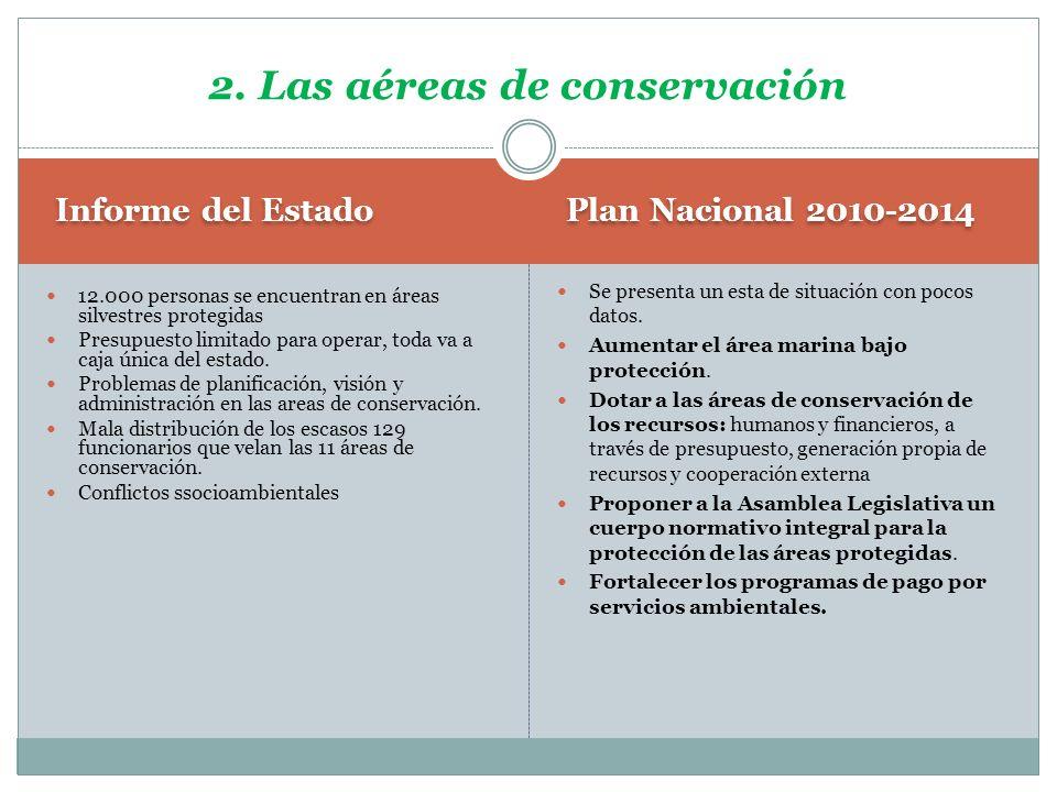 2. Las aéreas de conservación