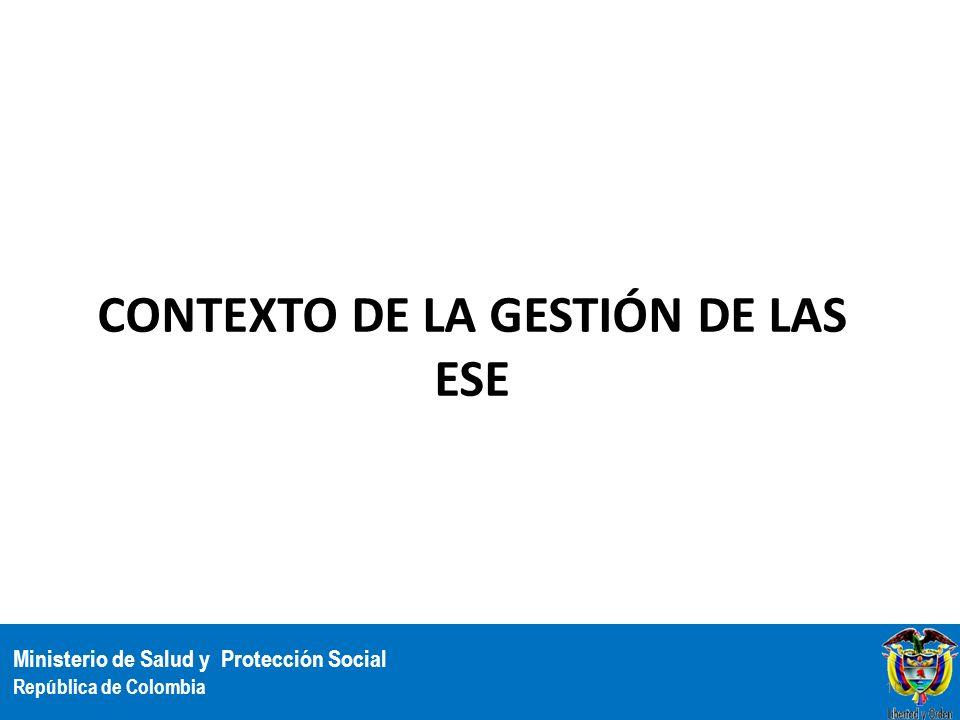 Contexto de la gestión de las ESE
