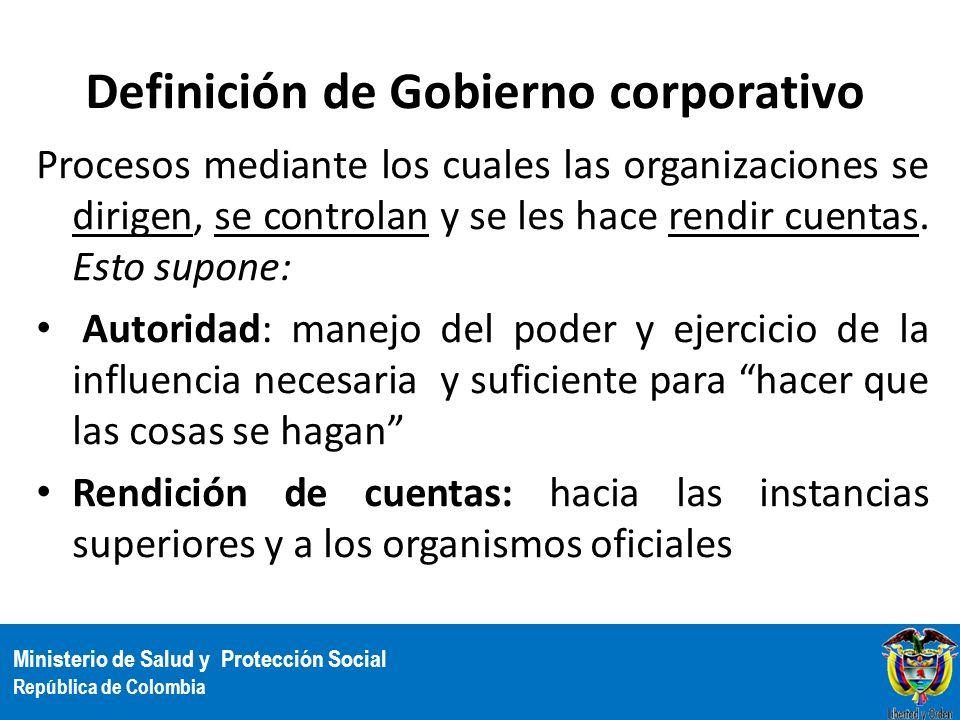 Definición de Gobierno corporativo