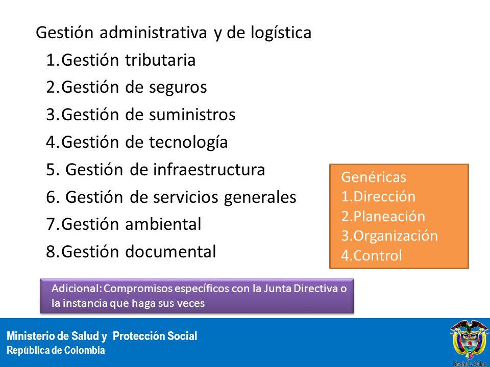 Gestión administrativa y de logística Gestión tributaria