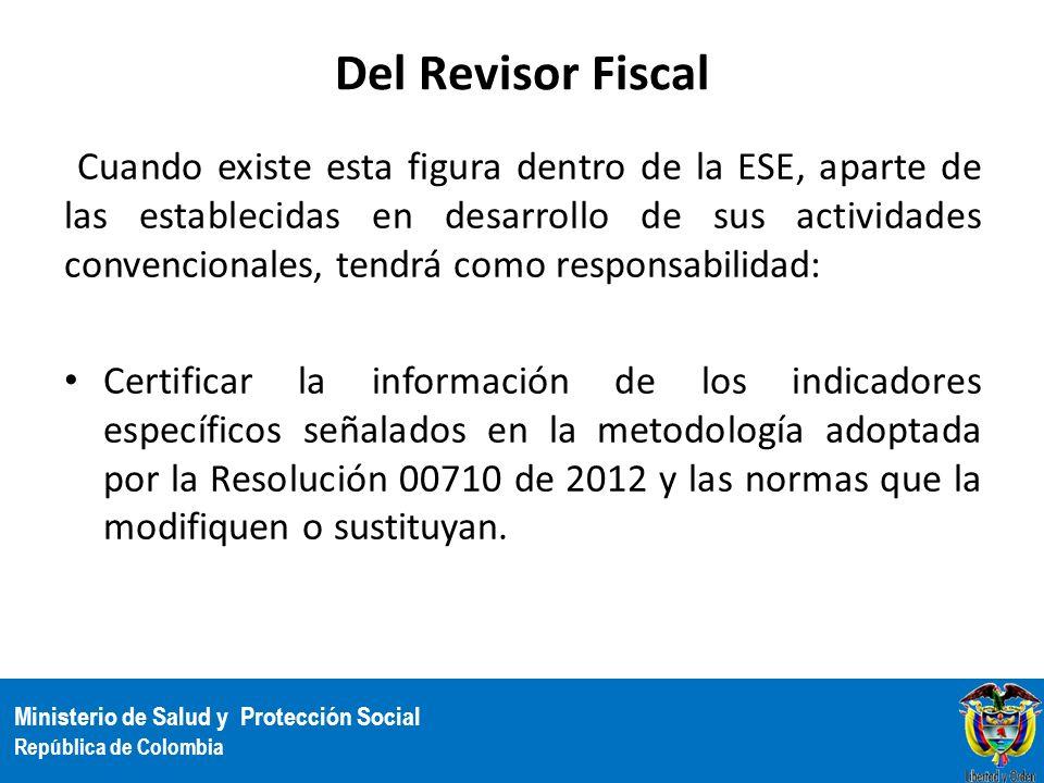 Del Revisor Fiscal