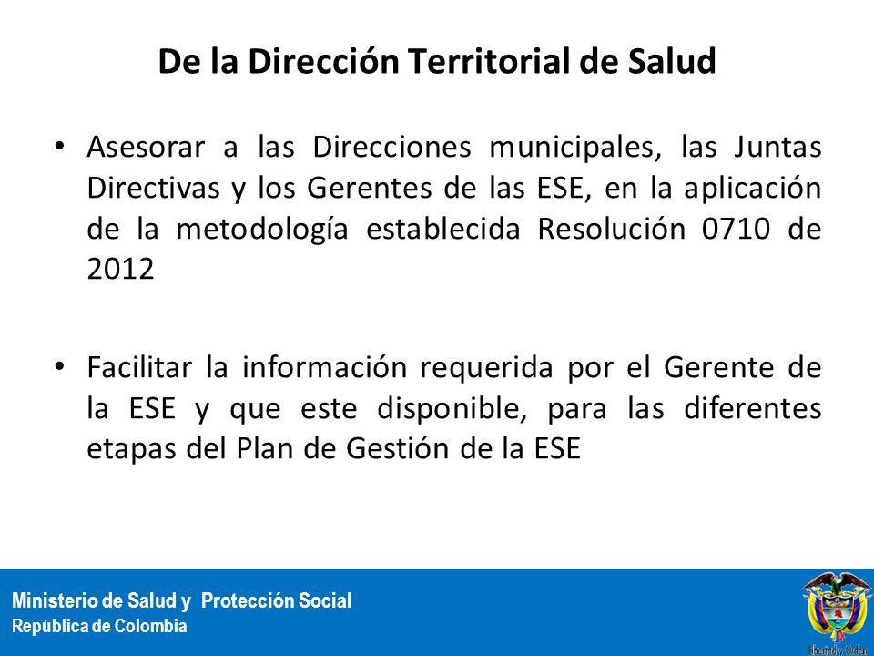 De la Dirección Territorial de Salud