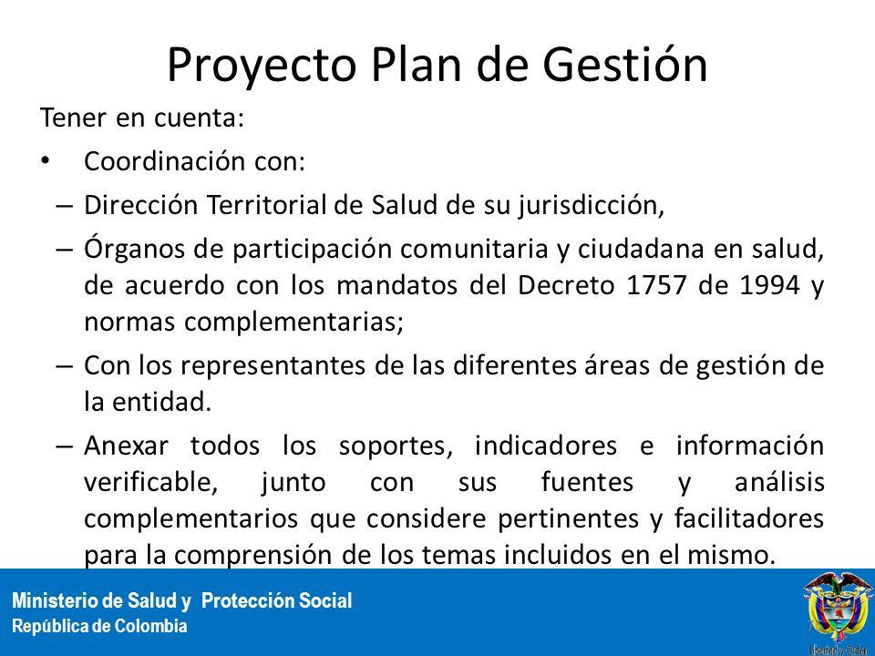 Proyecto Plan de Gestión