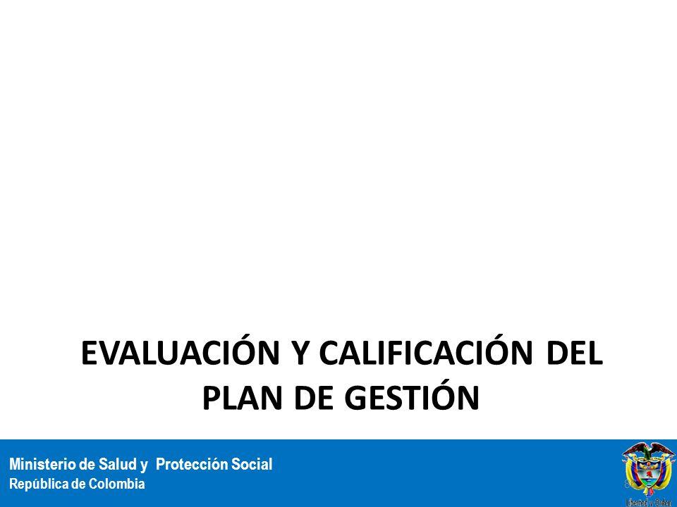 Evaluación y Calificación del Plan de Gestión