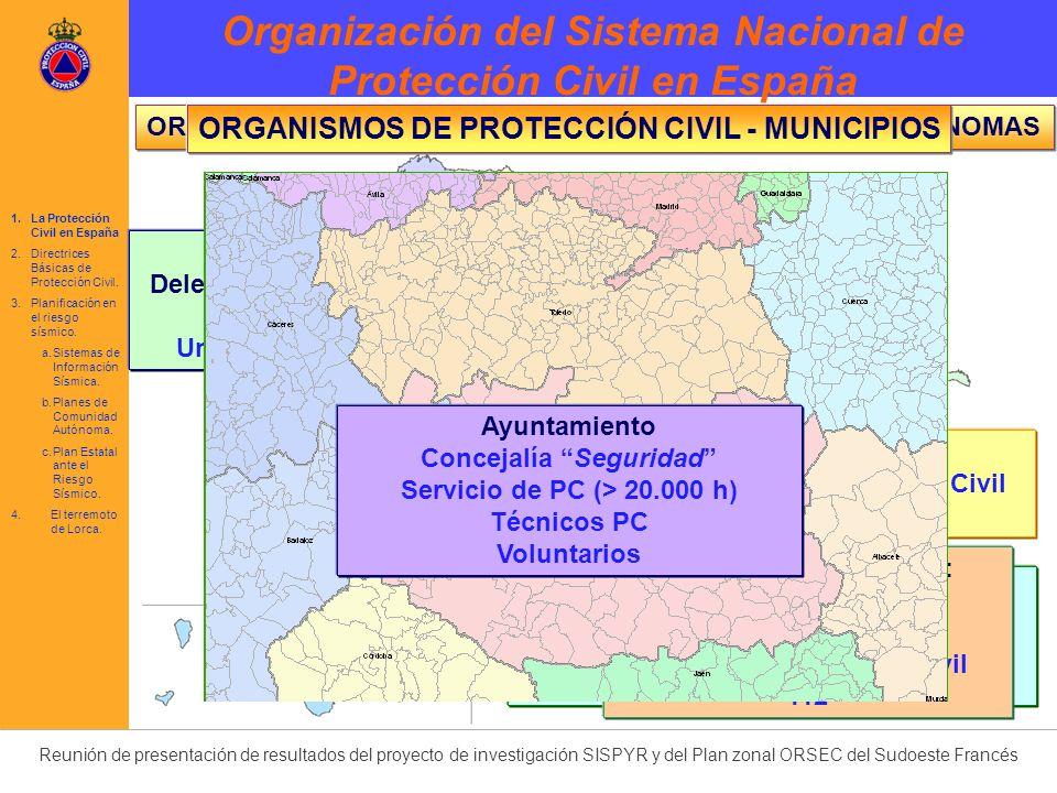 Organización del Sistema Nacional de Protección Civil en España