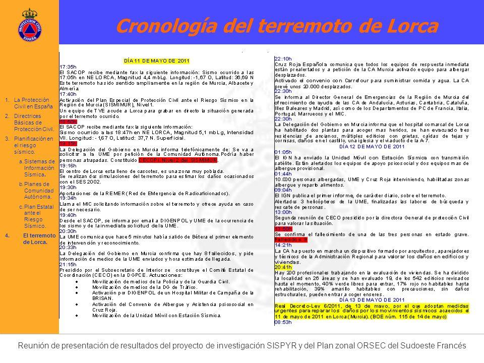 Cronología del terremoto de Lorca