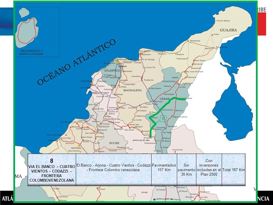 VIA EL BANCO – CUATRO VIENTOS – CODAZZI – FRONTERA COLOMBOVENEZOLANA
