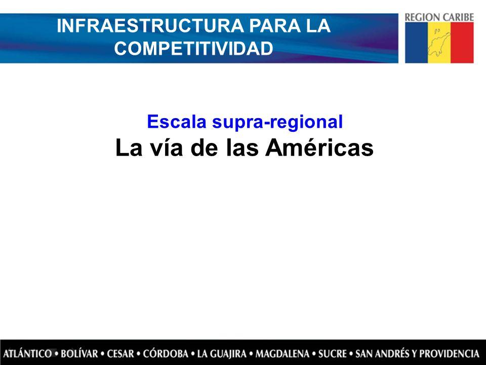 INFRAESTRUCTURA PARA LA COMPETITIVIDAD Escala supra-regional