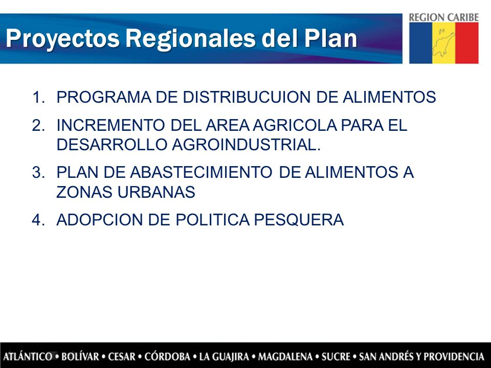 Proyectos Regionales del Plan