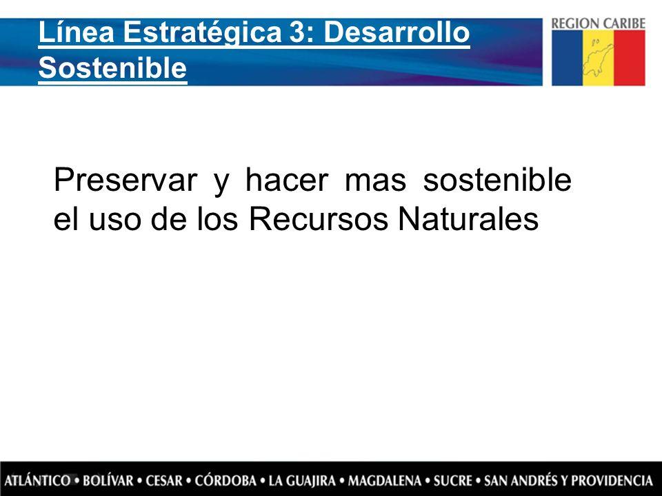 Preservar y hacer mas sostenible el uso de los Recursos Naturales