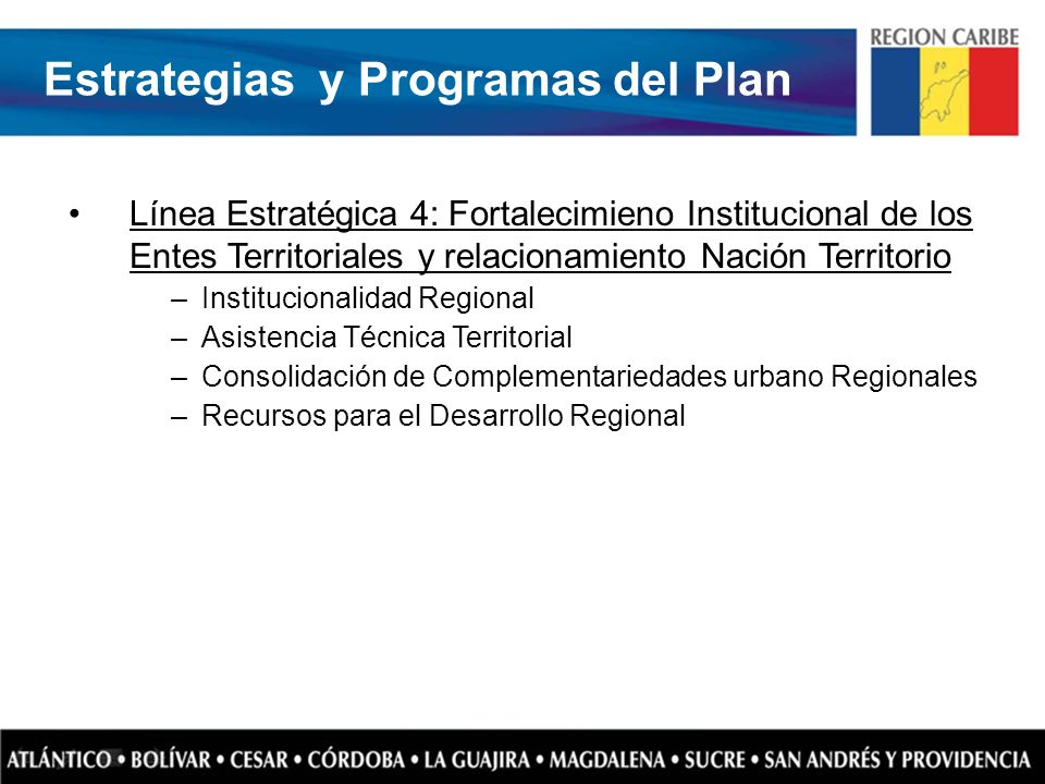 Estrategias y Programas del Plan
