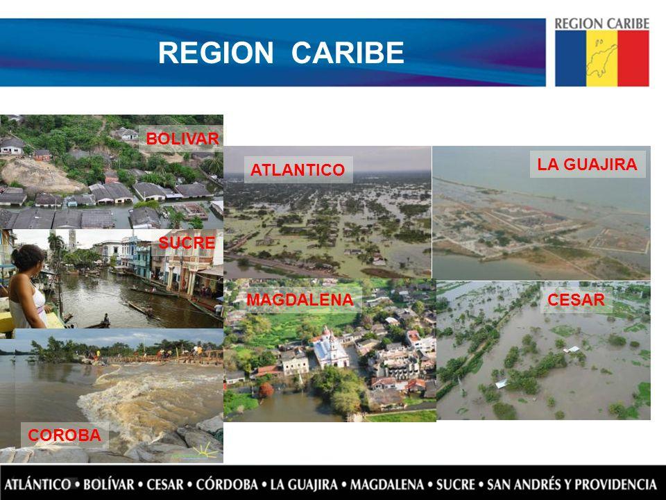 REGION CARIBE BOLIVAR LA GUAJIRA ATLANTICO SUCRE MAGDALENA CESAR