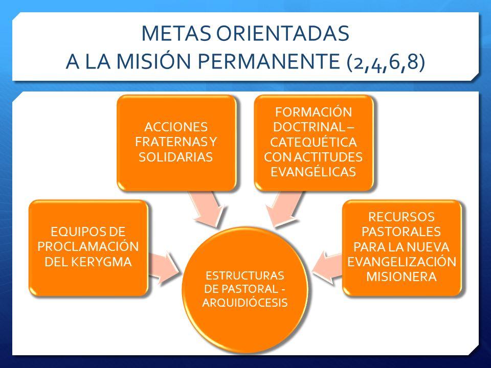 METAS ORIENTADAS A LA MISIÓN PERMANENTE (2,4,6,8)