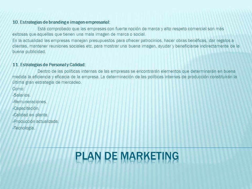plan de marketing 10. Estrategias de branding e imagen empresarial: