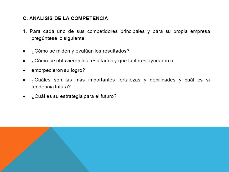 C. ANALISIS DE LA COMPETENCIA