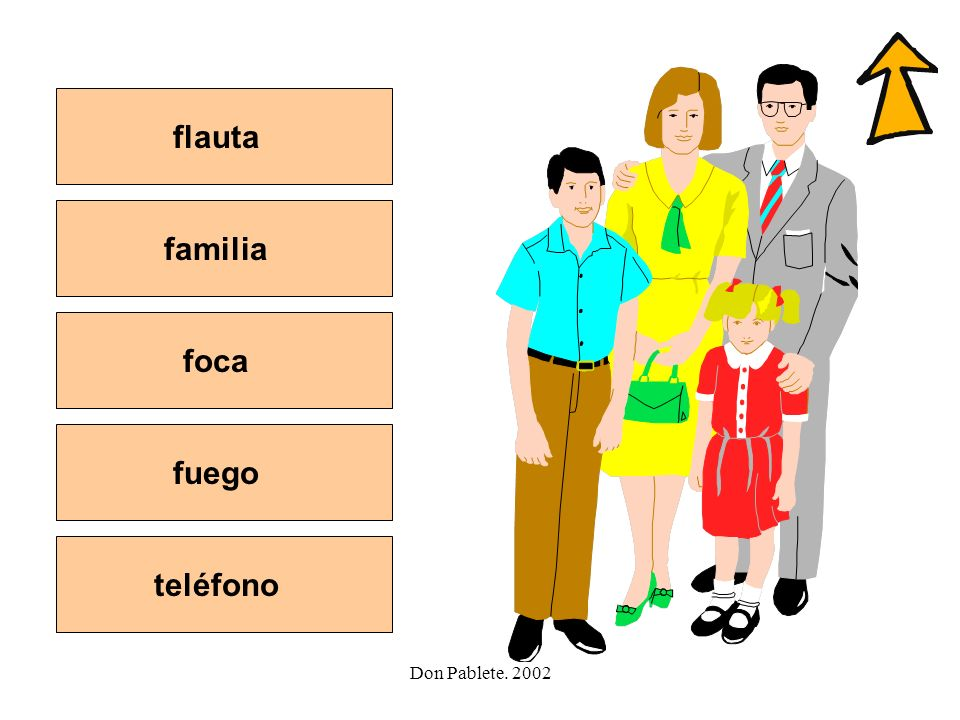 flauta familia foca fuego teléfono