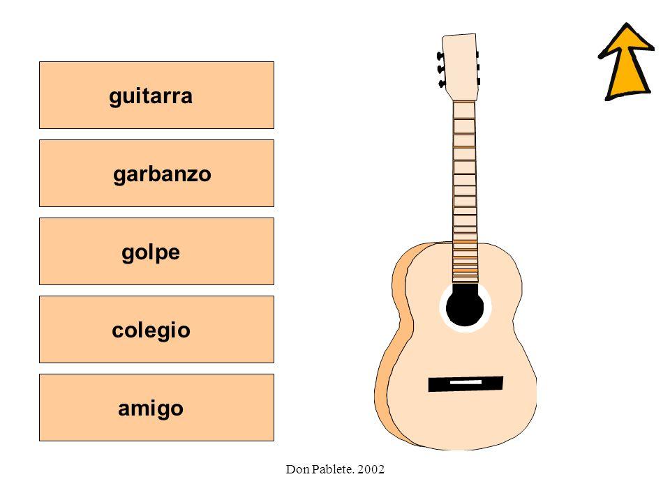 guitarra garbanzo golpe colegio amigo