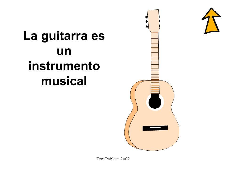 La guitarra es un instrumento musical