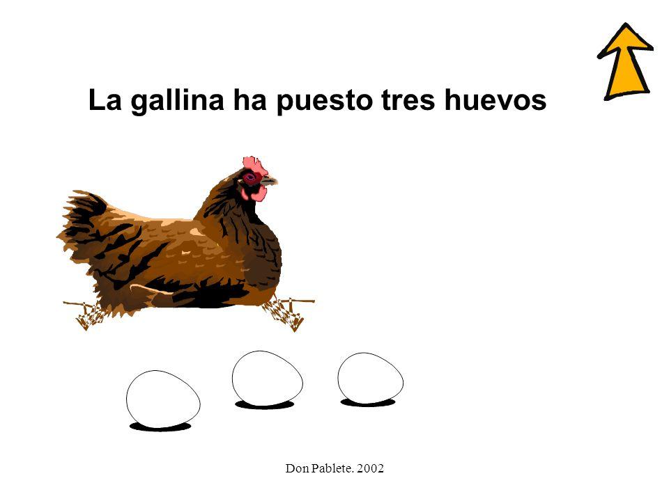 La gallina ha puesto tres huevos
