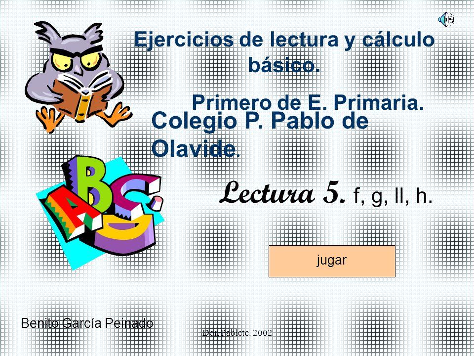 Ejercicios de lectura y cálculo básico.