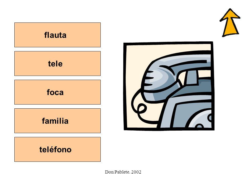 flauta tele foca familia teléfono