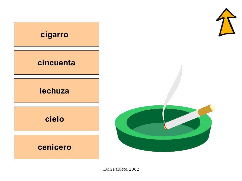 cigarro cincuenta lechuza cielo cenicero