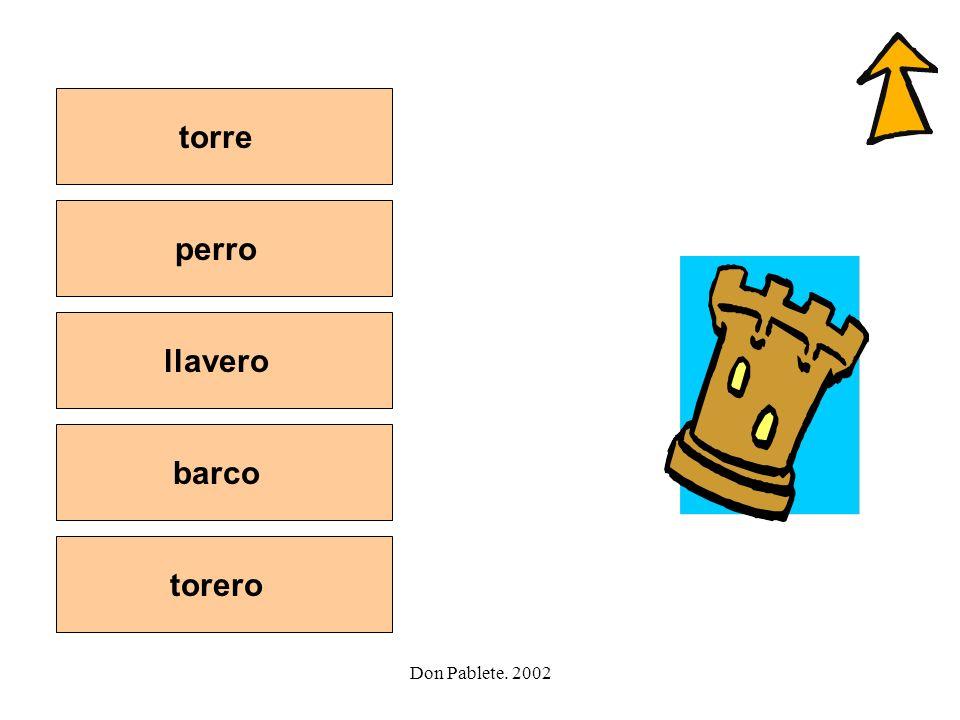 torre perro llavero barco torero