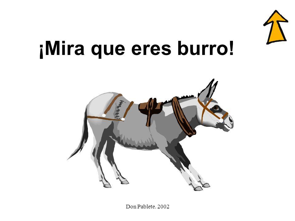 ¡Mira que eres burro! Don Pablete. 2002