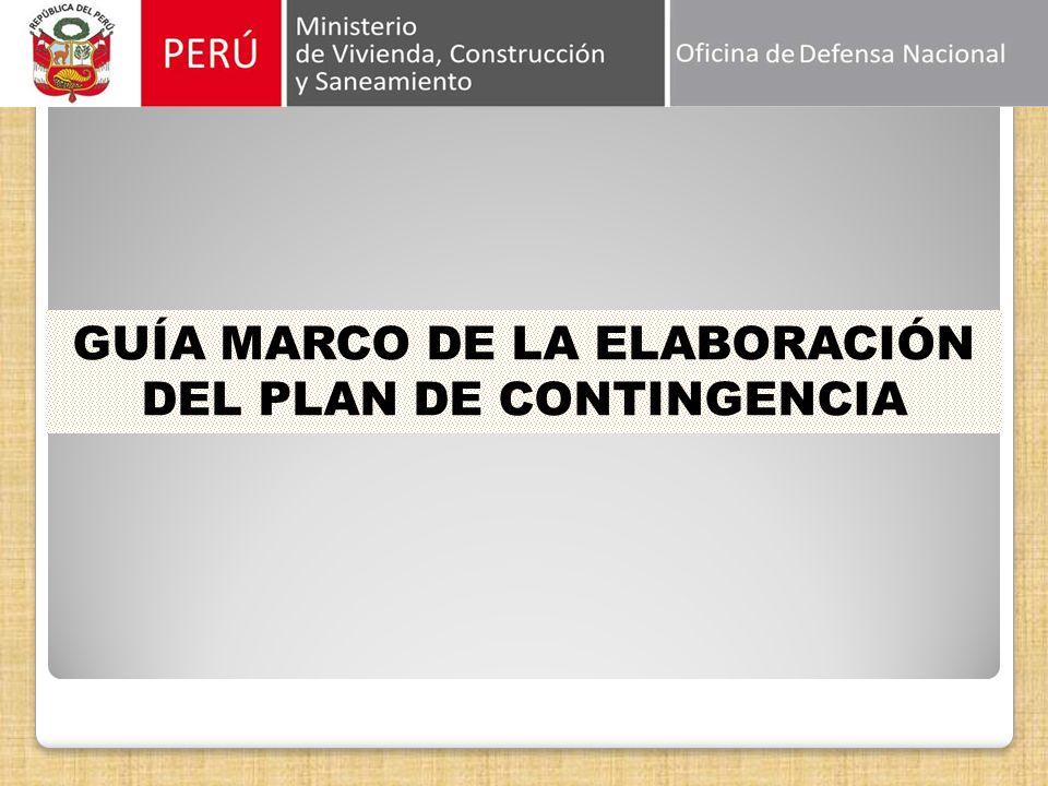 GUÍA MARCO DE LA ELABORACIÓN DEL PLAN DE CONTINGENCIA