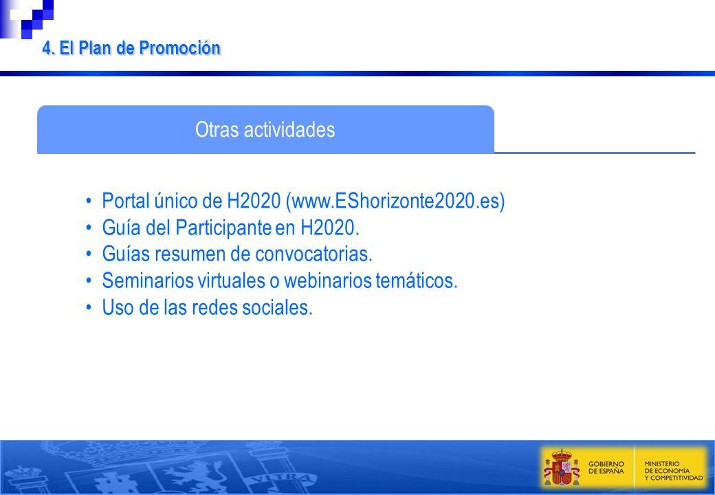 Portal único de H2020 (www.EShorizonte2020.es)