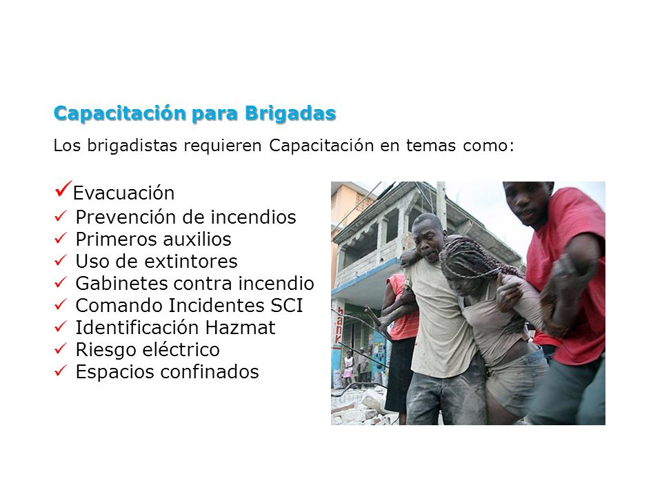 Evacuación Capacitación para Brigadas Prevención de incendios