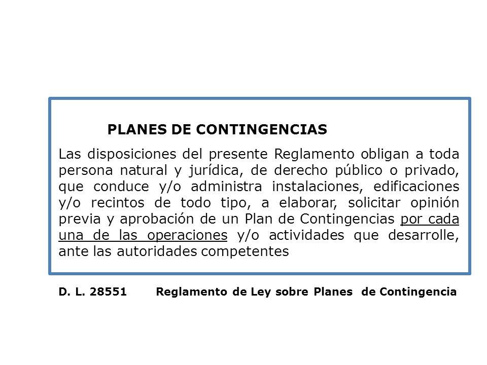 Planes: PLANES DE CONTINGENCIAS.