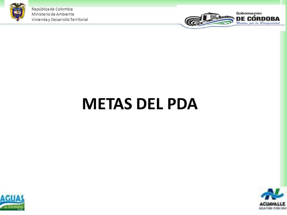 METAS DEL PDA