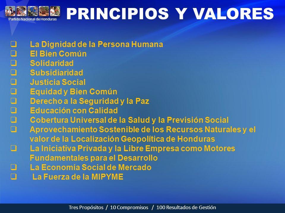 PRINCIPIOS Y VALORES La Dignidad de la Persona Humana El Bien Común