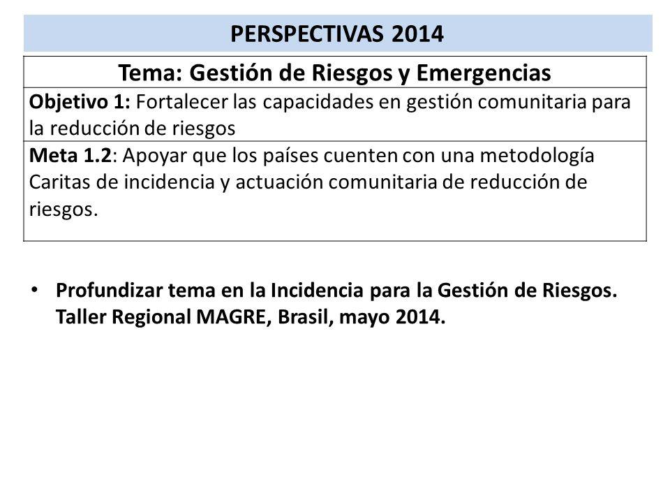 Tema: Gestión de Riesgos y Emergencias