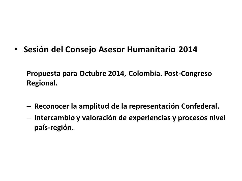 Sesión del Consejo Asesor Humanitario 2014