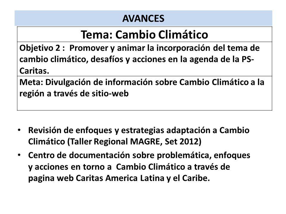 Tema: Cambio Climático