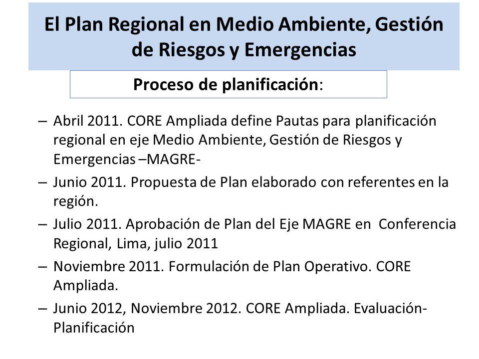 El Plan Regional en Medio Ambiente, Gestión de Riesgos y Emergencias